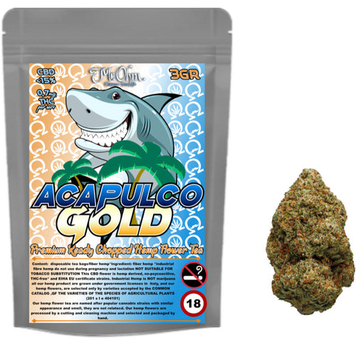 Acapulco Gold- PREMIUM HERBAL HEMP TEA - 3gr 100% CBD Tea