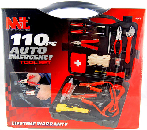 110 Piece Auto Emergency Tool Set