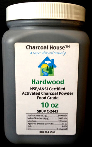 Hardwood Activated Charcoal Powder 10 oz