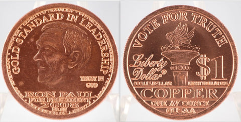 Ron Paul Copper Liberty Dollar 2008