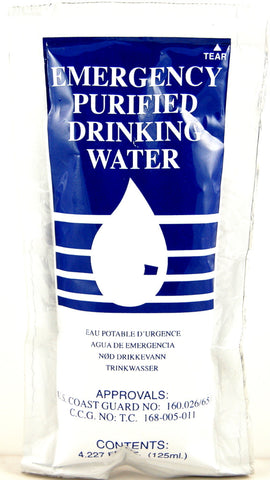SOS Emergency Purified Drinking Water 4.22 oz. - 20 Pack