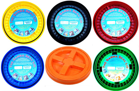 Gamma Seal Lid Variety Pack - 6 Different Colors