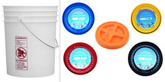 5 Food Grade Buckets + Gamma Seal Lid Variety Pack