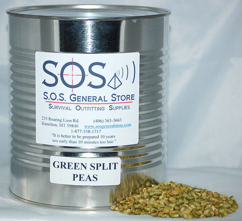 Split Green Peas - Case of 6 Cans
