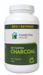 Activated Charcoal Tablets - 365 High Grade USP Tablets