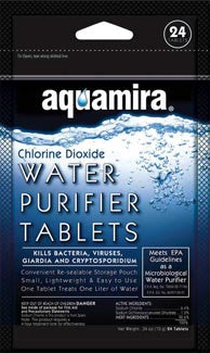 Aquamira Water Purifier Tablets - 24 Pack