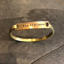 Load image into Gallery viewer, Screen/Life Balance Brass Motivation Bracelets