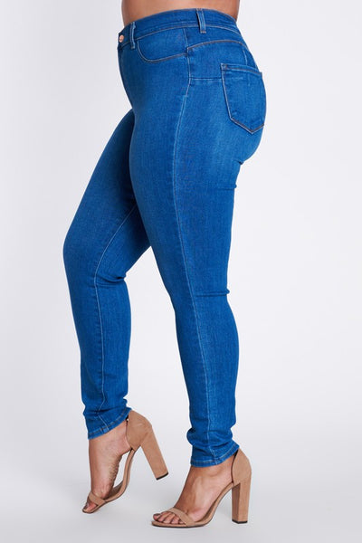 COUNTDOWN - PLUS SIZE MID RISE SKINNY JEAN