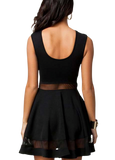 SKATER GIRL - SHEER SWEETHEART SKATER DRESS
