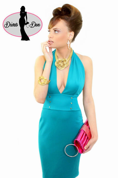 MONROE HALTER TOP DRESS