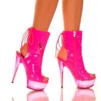 NEON ZIPPER STILETTO BOOTIE - Shoenanigan