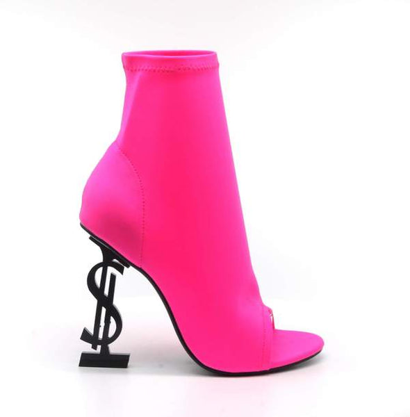 DOLLAR SIGN BOOTIE HEEL - Shoenanigan