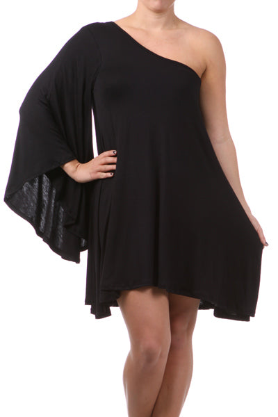 SASHAY - ONE SHOULDER FLOWY DRESS