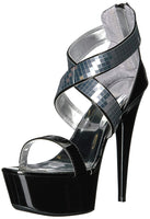 RONI - CRISS CROSS MIRRORED HEELS