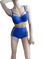BLUE 2 PIECE BATHING SUIT - Shoenanigan