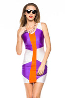 PLUS SIZE COLORBLOCK MINI DRESS - Shoenanigan