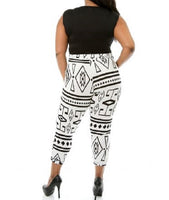 PLUS SIZE TRIBAL PRINT JUMPSUIT