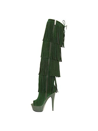 FRINGE THIGH HIGH BOOTS - Shoenanigan