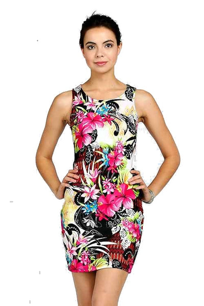 FLORAL PRINT MINI DRESS - Shoenanigan