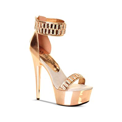 METALLIC RHINESTONE HEEL - Shoenanigan