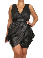 JAZZY DIVA -FAUX LEATHER TULIP DRESS