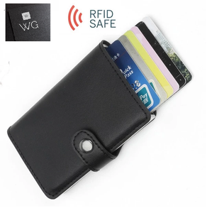Fashion & Safety - Unique RFID Blocker Wallet for Credit Cards - Anti Theft