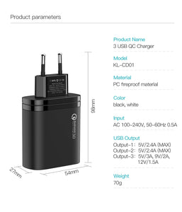 Ultra Fast Charging Multi Mobile Phone Charger Plug - US and UK Plug