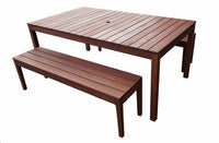 Supreme Rectangular 1.8m Dining Table & Bench 3pc Setting