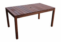 Supreme Rectangular 1.5m Dining Table & Bench 3pc Setting