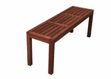 Standard Rectangular 1.5m Dining Table and Bench 3pc Setting