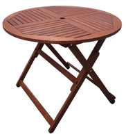 Tropical Round Folding Table