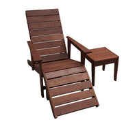 Lazio Deck Chair with Bonus Ottoman and Side Table Set