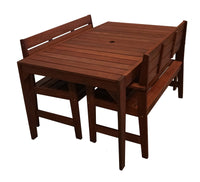 Lazio Rectangular 1.5m Dining Table & Arm Bench 3pc Setting