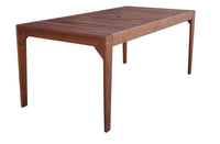 Lazio Rectangular Dining Table & Bench 3pc Setting