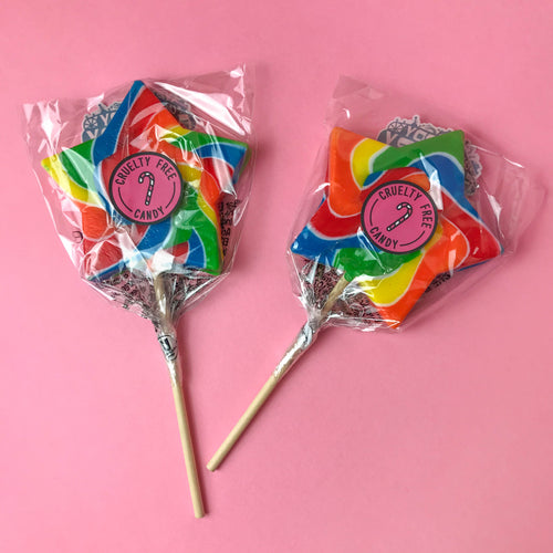 Rainbow Star Lollipop