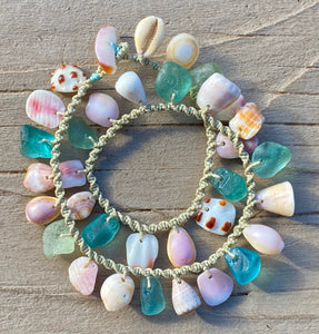 Double Wrap Moku Bracelet MADE TO ORDER (Shells of Spring)