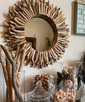 Colorful Driftwood Mirrored Wreath (24 inch)