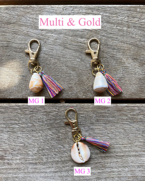 Shell & Tassel Key Chain