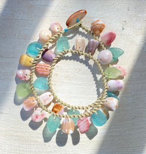 Double Wrap Moku Bracelet MADE TO ORDER (Mermaid Dreams)