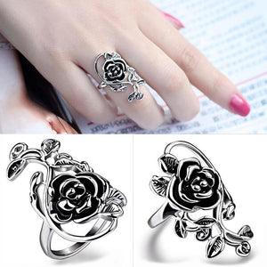Rose Flower and Vines Finger Ring (Style 1)
