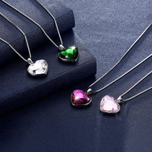 Load image into Gallery viewer, Elegant Swarovski Crystal Heart Necklace 925 Sterling Silver