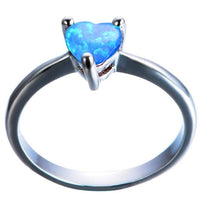 Load image into Gallery viewer, Heart Shaped Opal Ring 925 Silver