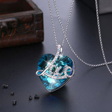 "Load image into Gallery viewer, Luxury Sterling Silver Swarovski ""My Heart is filled with Love"" Necklace"