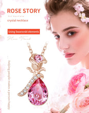 Load image into Gallery viewer, Swarovski Rose Necklace