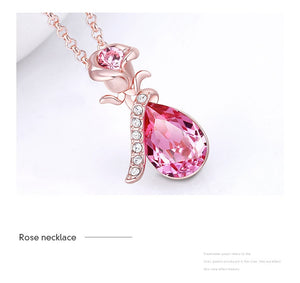 Swarovski Rose Necklace