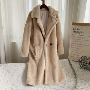 Oversized Faux Fur Teddy Coat