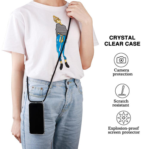 Crossbody Phone Case Holder with Rope for iPhone 11pro max X 6 7 Plus 8 Plus 5 5S SE XR XS MAX XS 11