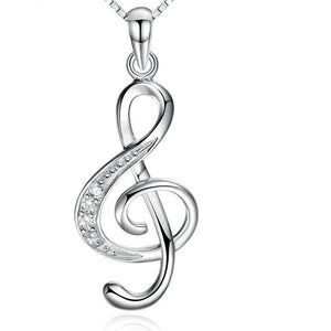 I love Music Necklace Sterling Silver