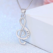 Load image into Gallery viewer, I love Music Necklace Sterling Silver