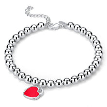 Load image into Gallery viewer, Elegant Silver Heart Bracelet